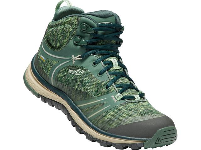 Keen Terradora WP Mid Shoes Women Duck Green/Quiet Green